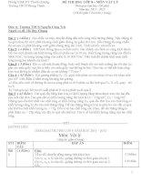 50 bộ đề thi Học Sinh Giỏi Vật Lý 8