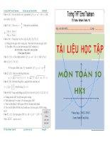 bài tập toán lớp 10