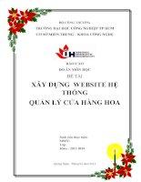 Báo cáo đồ án môn học xây dựng wedsite hệ thống quản lý cửa hàng hoa