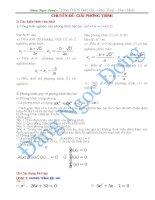 Chuyên đề- Giải phương trình- Ôn thi vào 10