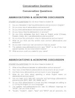 Conversation Questions on ABBREVIATIONS & ACRONYMS DISCUSSION