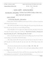 SKKN NÂNG CAO CHẤT LƯỢNG CÔNG TÁC ĐỘI TNTP HỒ CHÍ MINH
