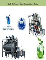 Method of reducing water consumption in textile