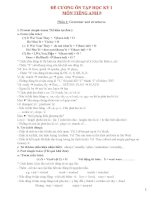 ôn thi HKI tiếng anh lớp 8 (ngữ pháp, bài tập)