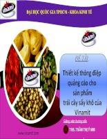 Thiết kế thông điệp quảng cáo cho sản phẩm trái cây sấy khô của Vinamit