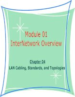 Tài liệu giảng dạy CCNA - module 01 chapter 04 - LAN Cabling, Standards, and Topologies