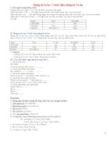 Ngữ pháp và bài tập tiếng Anh lớp  6