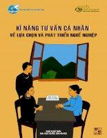 Tài liệu Kĩ năng tư vấn cá nhân về lựa chọn và phát triển nghề nghiệp