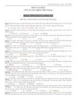 341 câu trắc nghiệm định lượng sóng cơ, sóng âm có phân dạng và đáp án