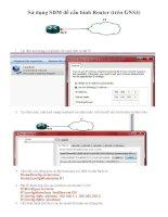 Sử dụng SDM để cấu hình Router (trên GNS3) - Hệ thống mạng CISCO