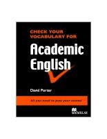 Check your vocab Academic English Book.