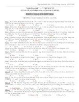 928 câu trắc nghiệm định lượng dao động cơ có phân dạng và đáp án