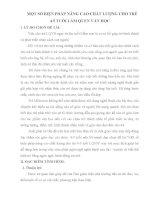 SKKN một số BIỆN PHÁP NÂNG CAO CHẤT LƯỢNG CHO TRẺ 4 5 TUỔI làm QUEN văn học