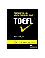 Check your vocab for TOEFL Book