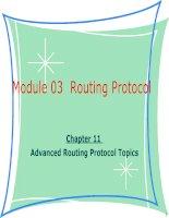 Tài liệu giảng dạy CCNA - module 03 chapter 11-Advanced Routing Protocol Topics