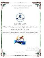 Tiểu luận dự án wedding loans cho ngân hàng eximbanks tại thành phố hồ chí minh giai đoạn từ tháng 9 năm 2014 đến tháng 3 năm 2015
