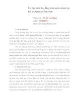 Tài liệu Môn học Quản trị nguồn nhân lực - Đề cương