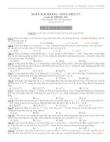 Ngân hàng đề 200 câu định lượng dao động điện từ có phân dạng và đáp án