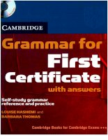 Grammar for FCE - Learning English