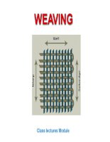 Weaving - Flow chart of Weaving