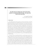 VÀI NÉT VỀ QUÁ TRÌNH XÁC LẬP VÀ TỔ CHỨC QUẢN LÝ VÙNG NÚI MIỀN TRUNG - TÂY NGUYÊN THỜI CHÚA NGUYỄN