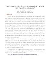 SKKN MỘT SỐ BIỆN PHÁP NÂNG CAO CHẤT LƯỢNG CHUYÊN MÔN Ở TRƯỜNG MẪU GIÁO