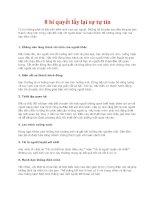 8 bí quyết lấy lại sự tự tin