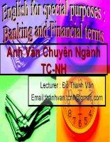 slide bài giảng anh văn chuyên ngàng tài chính ngân hàng unit (1)