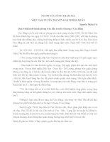 NGƯỜI TÀY NÙNG THAM GIA VIỆT NAM TUYÊN TRUYỀN GIẢI PHÓNG QUÂN