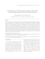 An Efficient Tree-based Frequent Temporal Inter-object Pattern Mining Approach in Time Series Databases