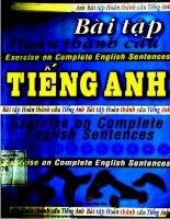 Bài tập hoàn thành câu tiếng Anh