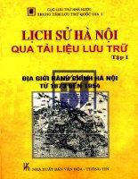 Lịch sử Hà Nội qua tài liệu lưu trữ - Tập 1