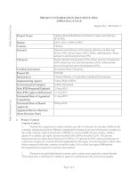 Project Information Document (Appraisal Stage) - Vietnam Dam Rehabilitation and Safety Improvement Project