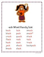 Bài tập tiếng anh trẻ em   ack word family list