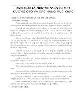 BIỆN PHÁP TỔ CHỨC THI CÔNG CHI TIẾT ĐƯỜNG ÔTÔ VÀ CÁC HẠNG MỤC KHÁC