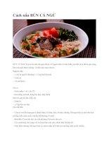 cách nấu các món bún