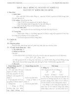 Giáo án Hóa học lớp 10 - Tiết 5 - Bài 3 ĐỒNG VỊ NGUYÊN TỬ KHỐI VÀ NGUYÊN TỬ KHỐI TRUNG BÌNH
