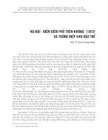 HÀ NỘI - ĐIỆN BIÊN PHỦ TRÊN KHÔNG (1972) VÀ THÔNG ĐIỆP CHO HẬU THẾ