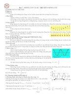 Ôn thi THPT quốc gia năm học 2015-2016 - Bài 7: Sóng cơ và sự truyền sóng cơ.