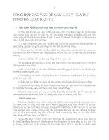 tổng hợp các vấn đề cần lưu ý của dự thảo bộ luật dân sự