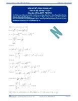 Hàm số mũ, hàm số Logarit - Tài liệu  tự luyện Toán 12