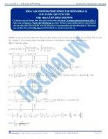 Các phương pháp tính Tích phân - Tài liệu tự luyện Toán 12 - P1