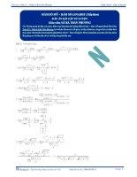 Hàm số mũ, hàm số Logarit - Tài liệu tự luyện Toán 12 - P2