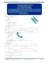 Cực đại cực tiểu của hàm số - Tài liệu tự luyện Toán 12 - Phần 1