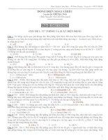 Ngân hàng đề gồm 400 câu trắc nghiệm định lượng DÒNG điện XOAY CHIỀU có phân dạng và đáp án