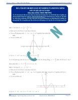 Biện luận số nghiệm của phương trình - Tài liệu  tự luyện Toán 12
