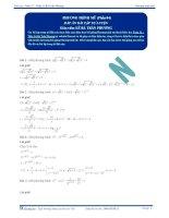 Phương trình mũ -Tài liệu  tự luyện Toán 12 - P4