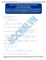 Các phương pháp tính Nguyên hàm - Tài liệu tự luyện Toán 12 - P2