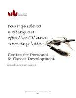 hướng dẫn cho những bạn muốn viết CV và thư xin việc bằng tiếng anh