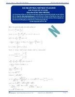 Giá trị lớn nhất và nhỏ nhất của hàm số - Tài liệu  tự luyện Toán 12 - Phần 1